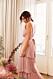 Nicole Falciani släpper bröllopskollektion –rosa långklänning med volanger