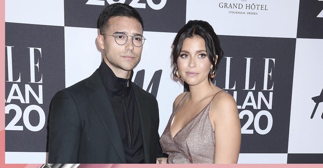 Nicole Falciani och Eric Saade på Elle-galan 2020
