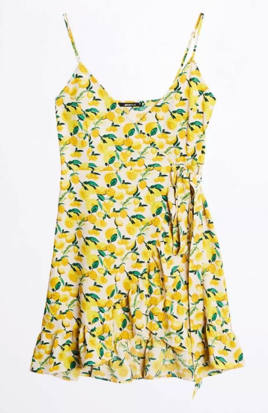 Omlottklänning med citroner