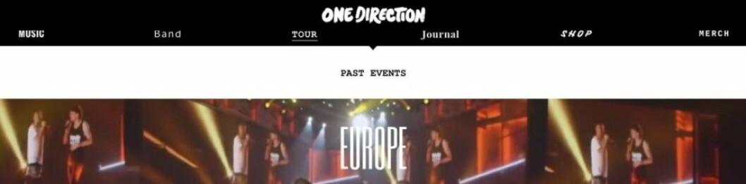 """""""Future events"""" togs bort från hemsidan i går."""