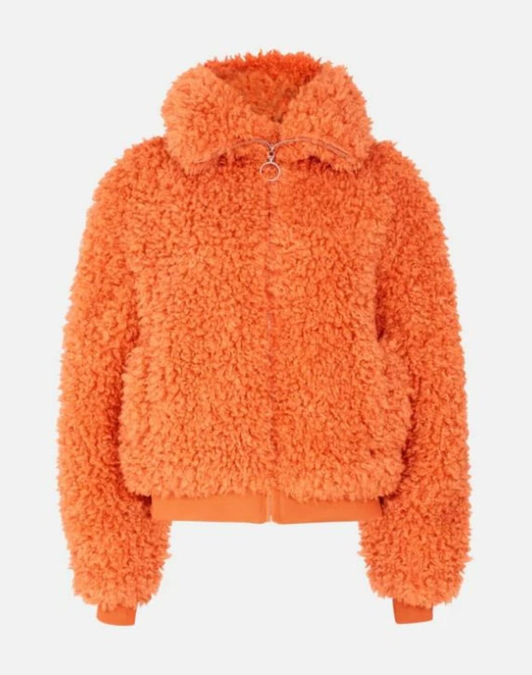 Orange teddyjacka