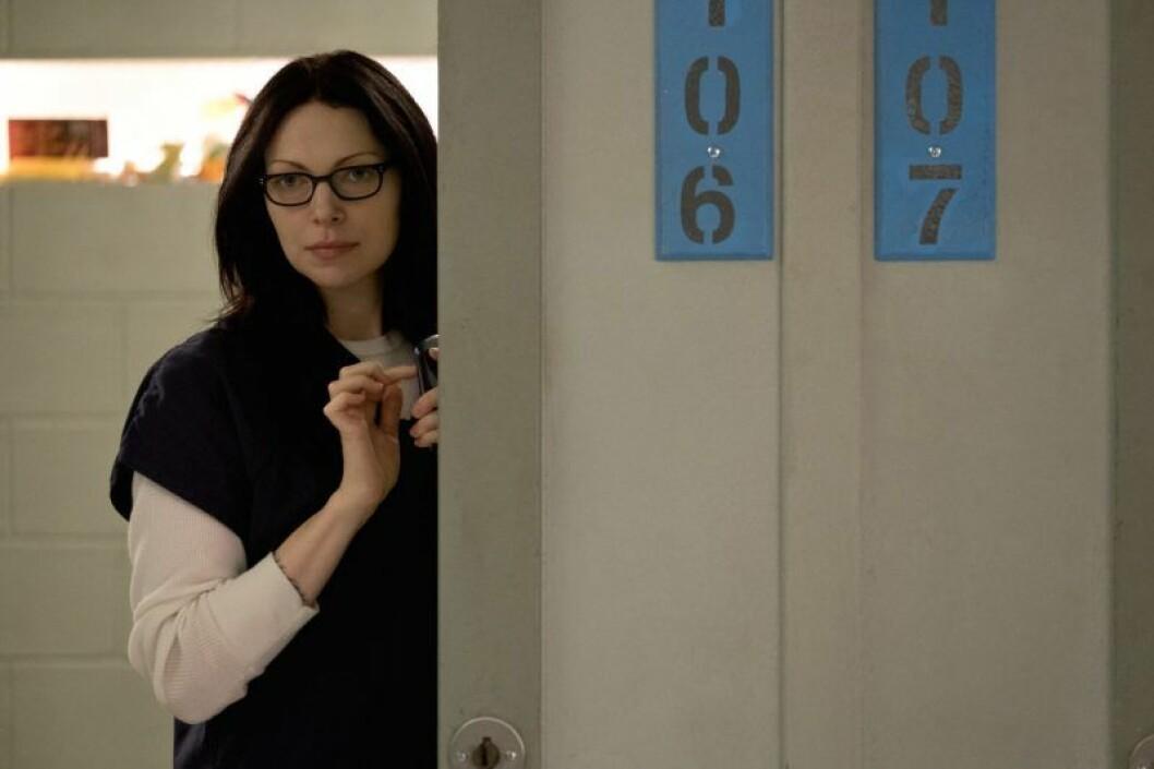 En bild på en av karaktärerna från tv-serien Orange is the New Black på Netflix.