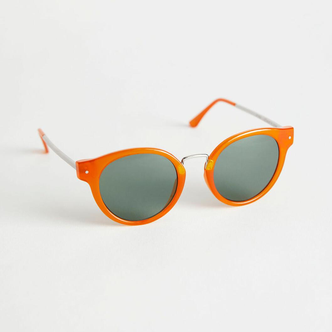 Oranga runda solglasögon