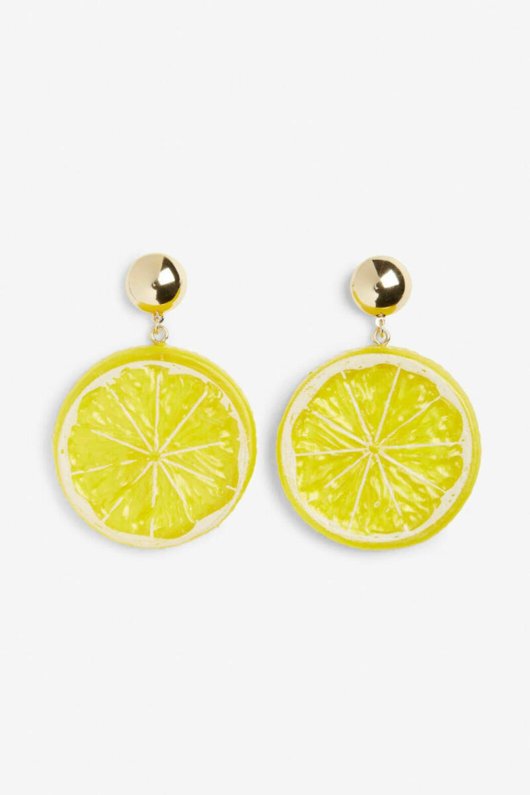 Citronformade örhängen