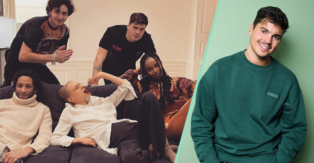 Oscar Zia och skådespelarna i ny serie på discovery+