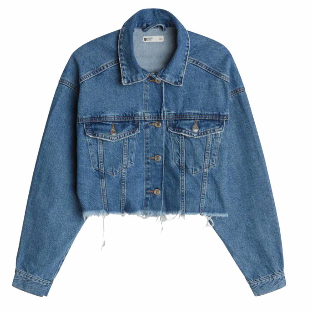 Kort jeansjacka i oversize modell från Gina tricot