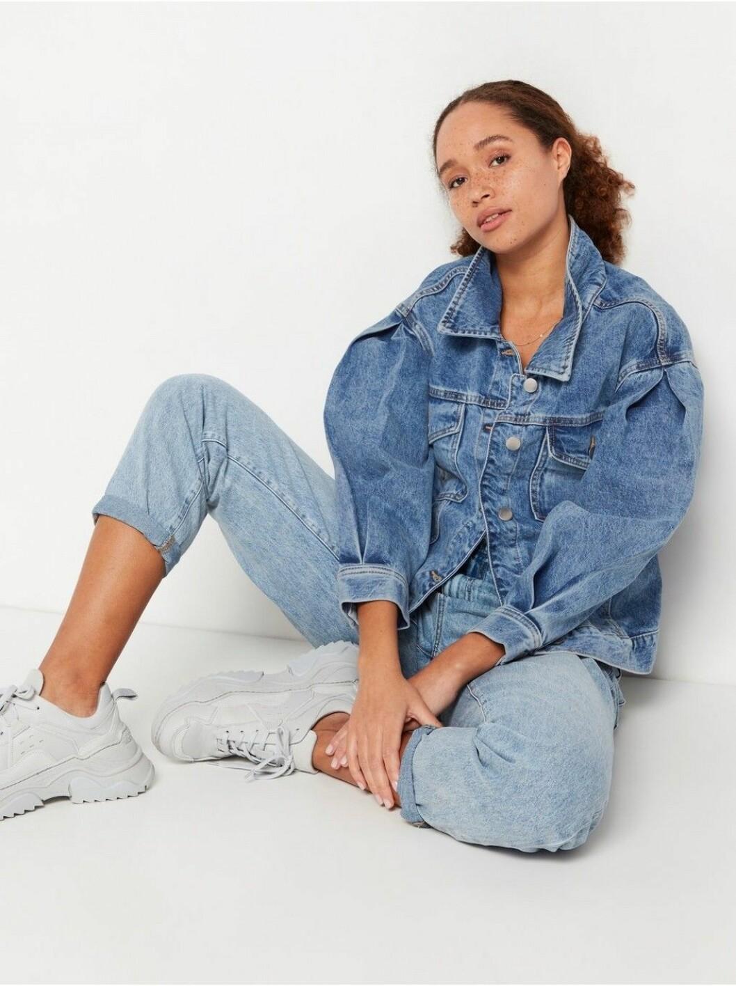 Oversize jeansjacka från Lindex