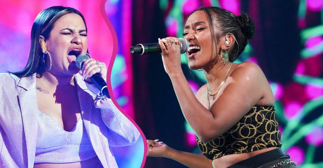 Paulina och Nadja i Idolfinalen 2020
