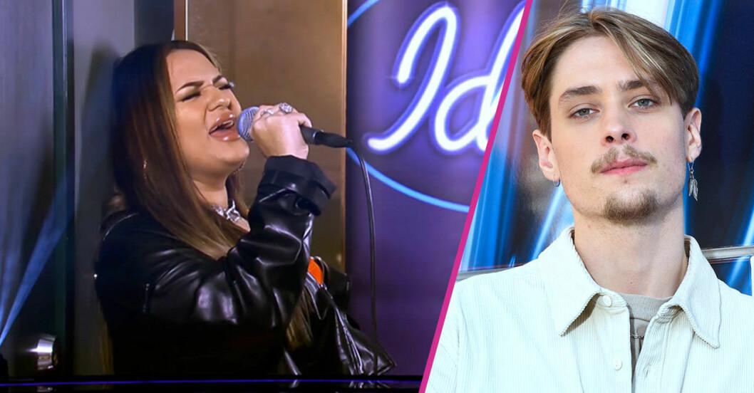 Paulina och Simon i Idol 2020