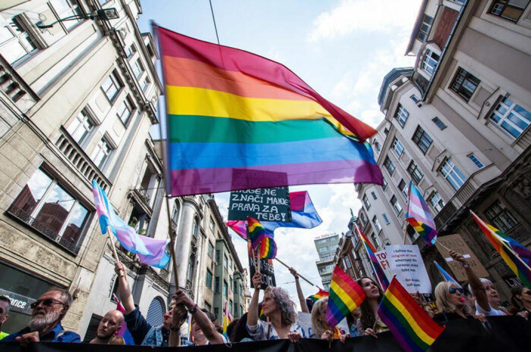 En bild från en Pride-parad.