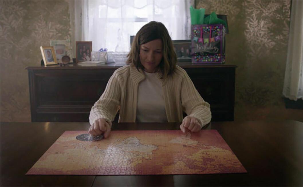 En bild på karaktären Agnes i filmen Puzzle som har premiär på Filmstaden den 25 december.