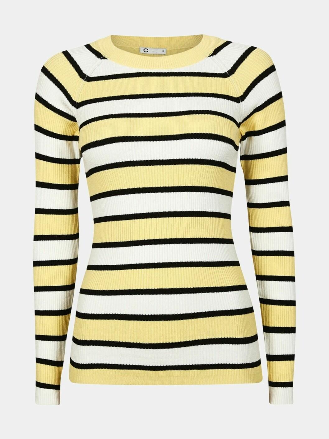 Randig gul tröja till våren