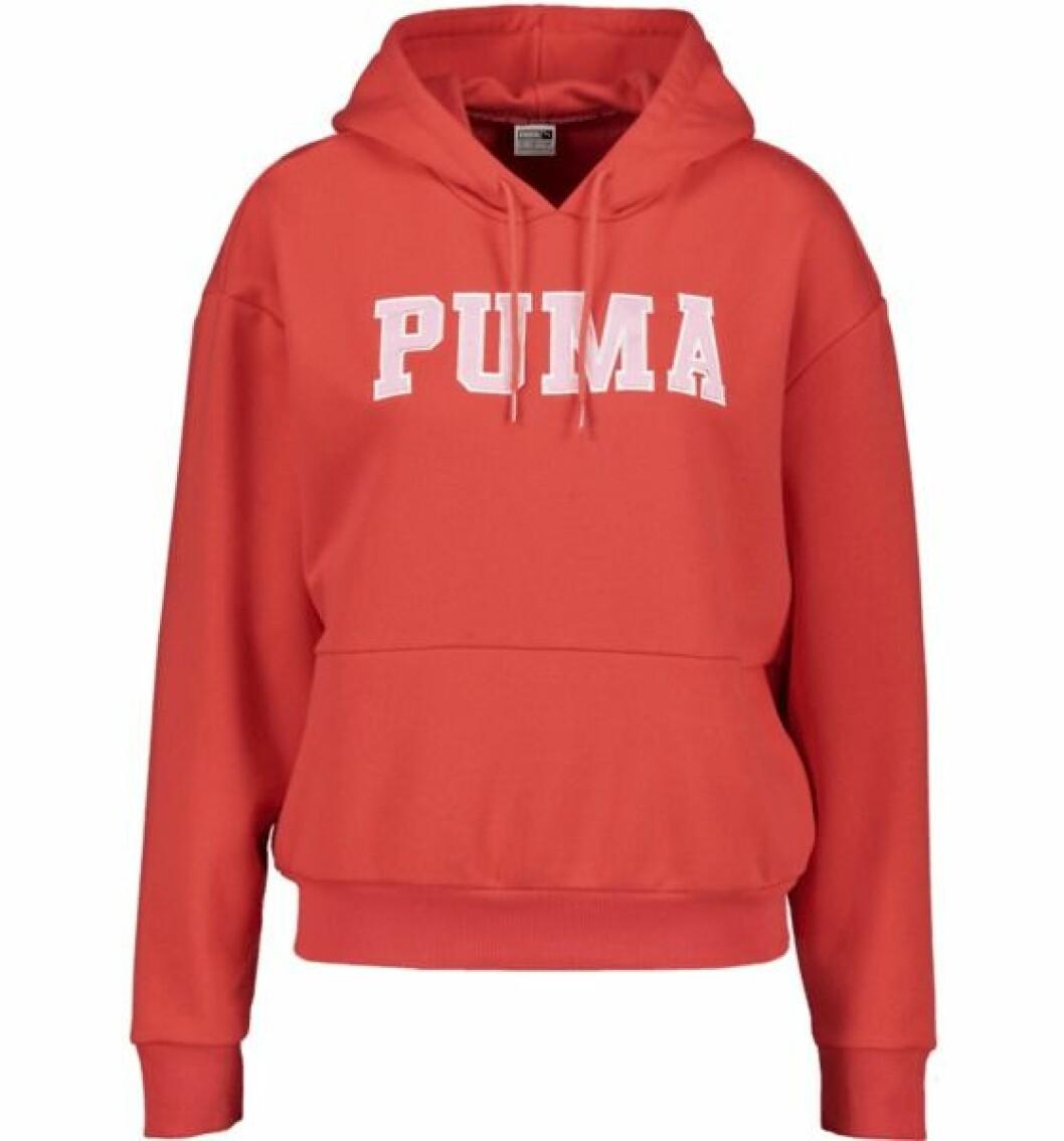 Röd hoodie från Puma