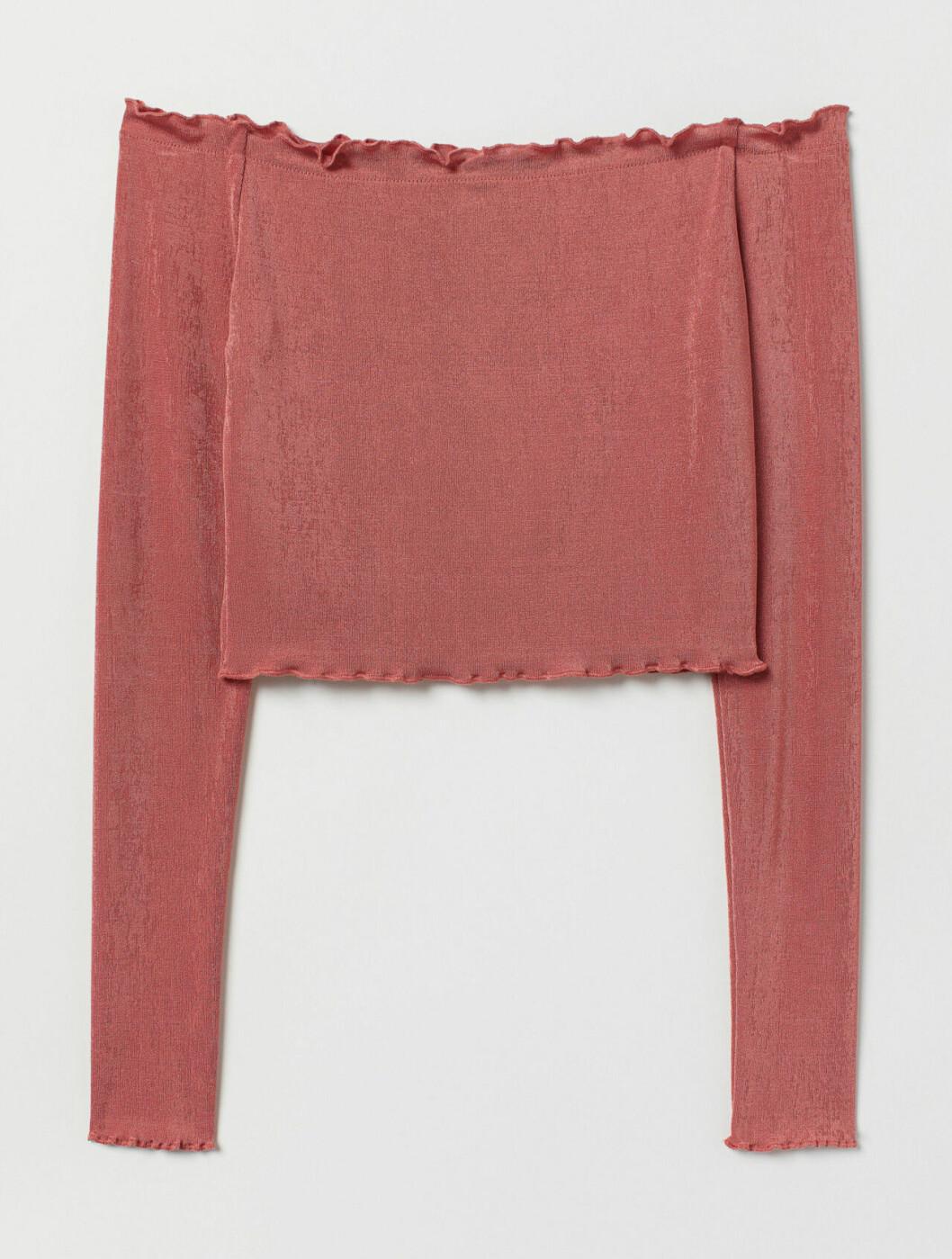 Rosa croppad tröja dam