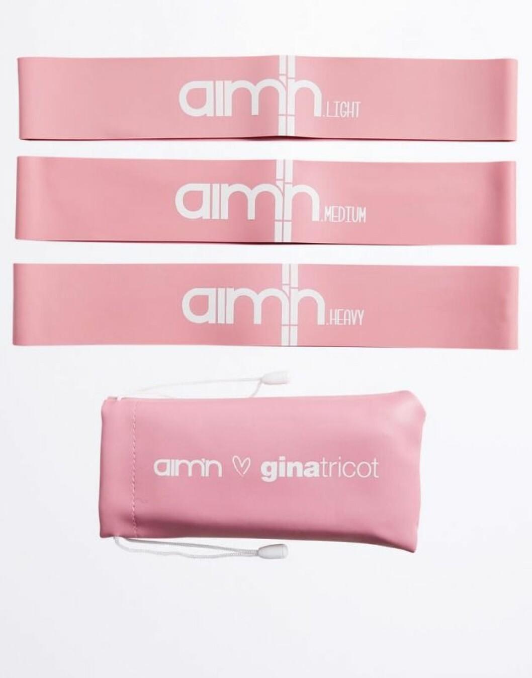 Rosa gummiband från Gina tricot och Aimn