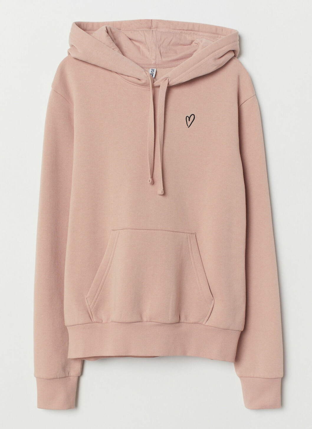 Rosa hoodie med hjärta