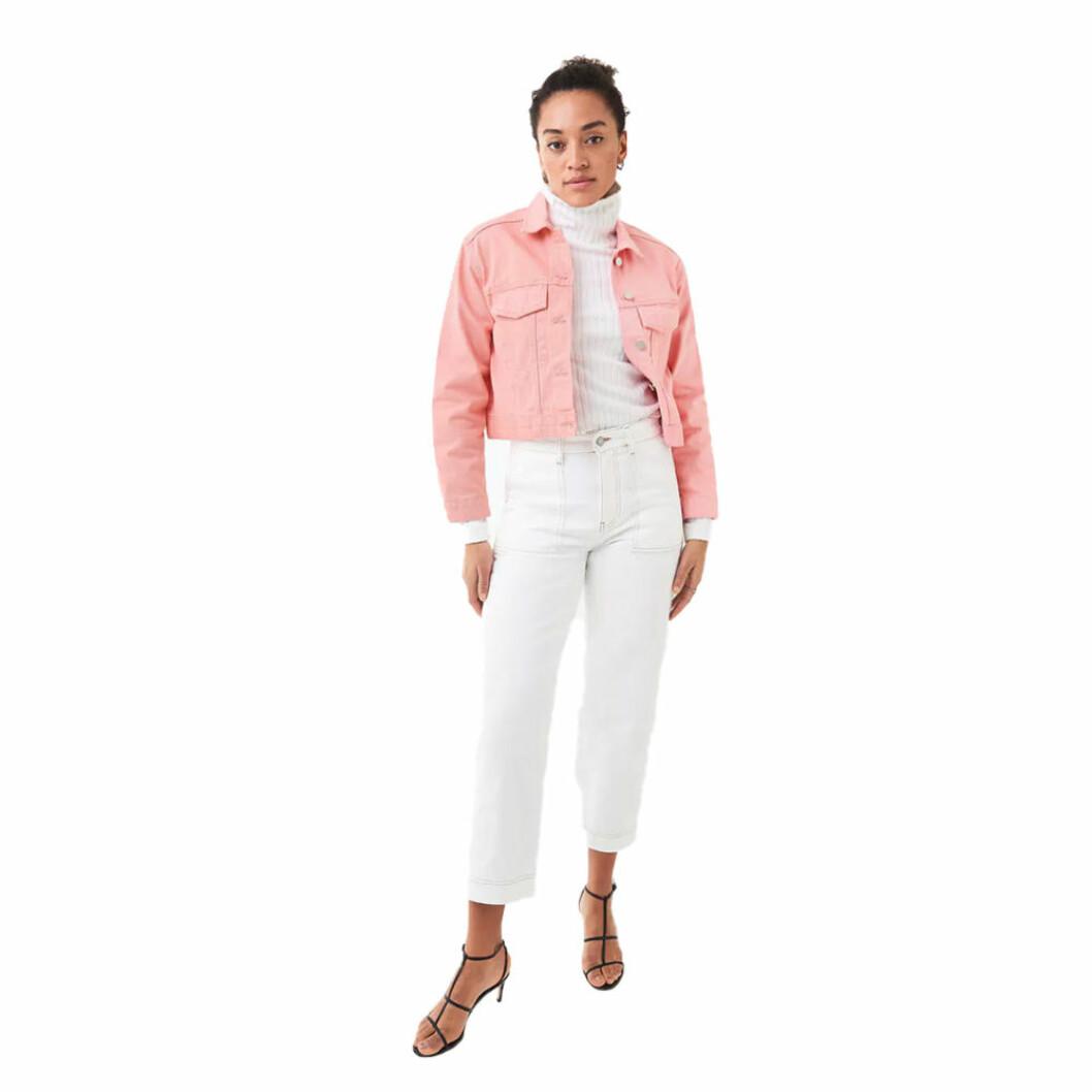 Rosa jeansjacka