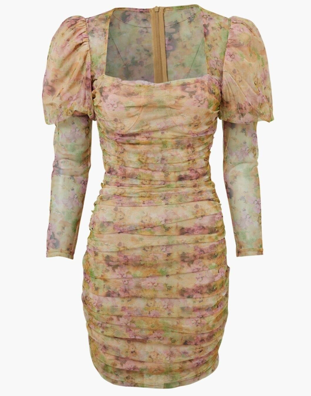 Blommig klänning för dam till våren 2020