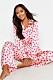 Rosa pyjamas med hjärtan
