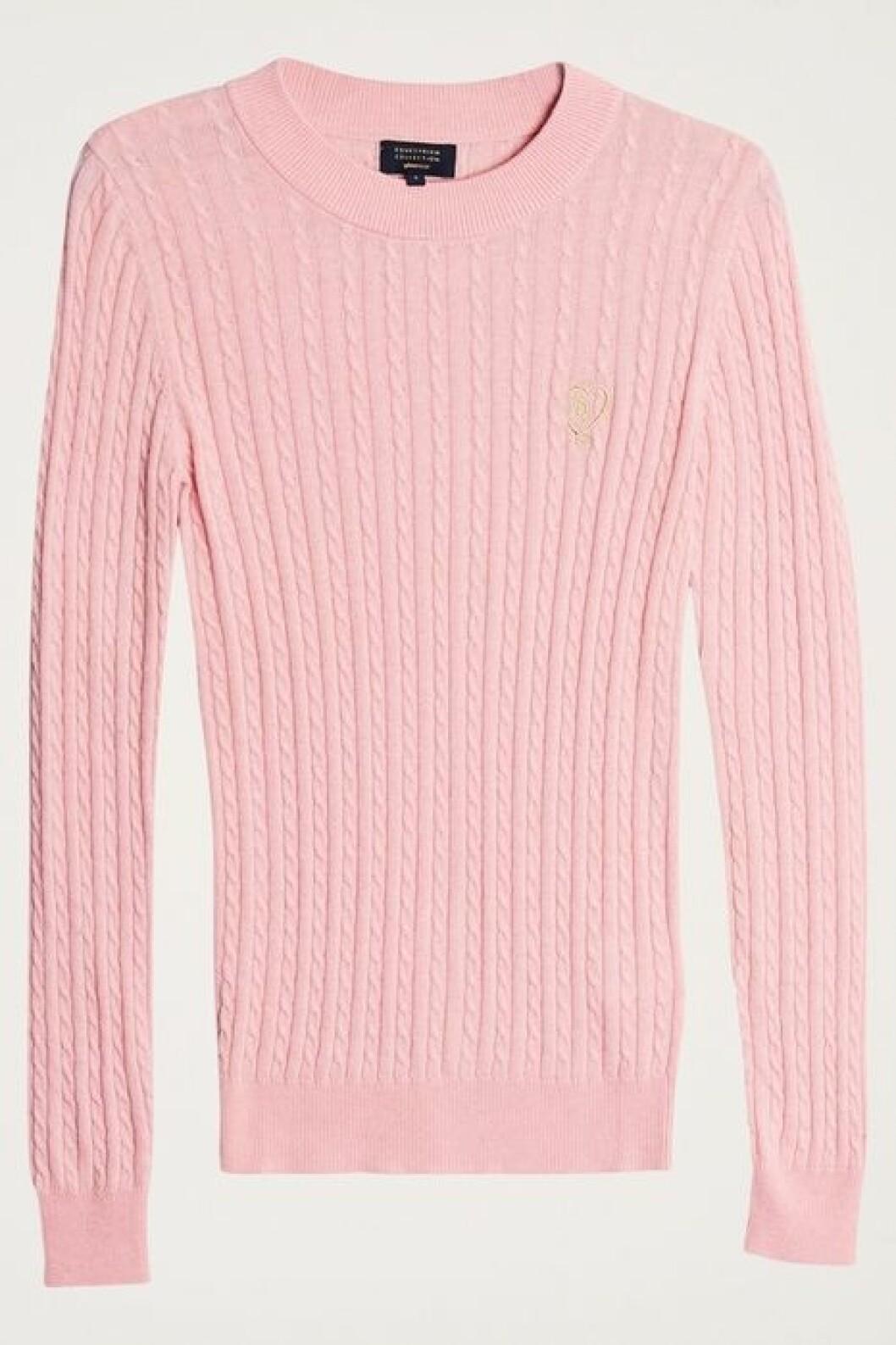 Rosa ribbad tröja