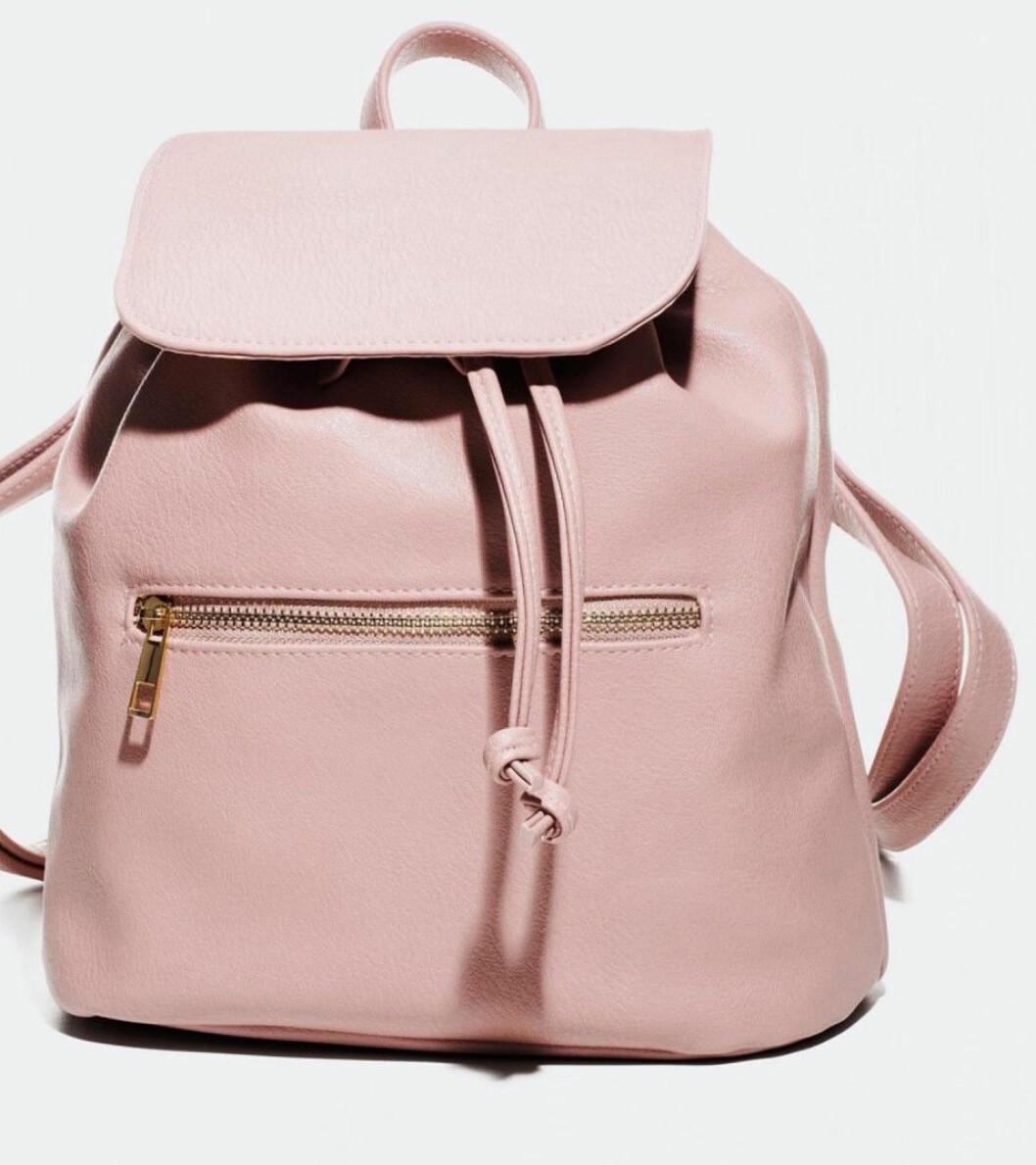 Rosa ryggsäck till skolan från Glitter