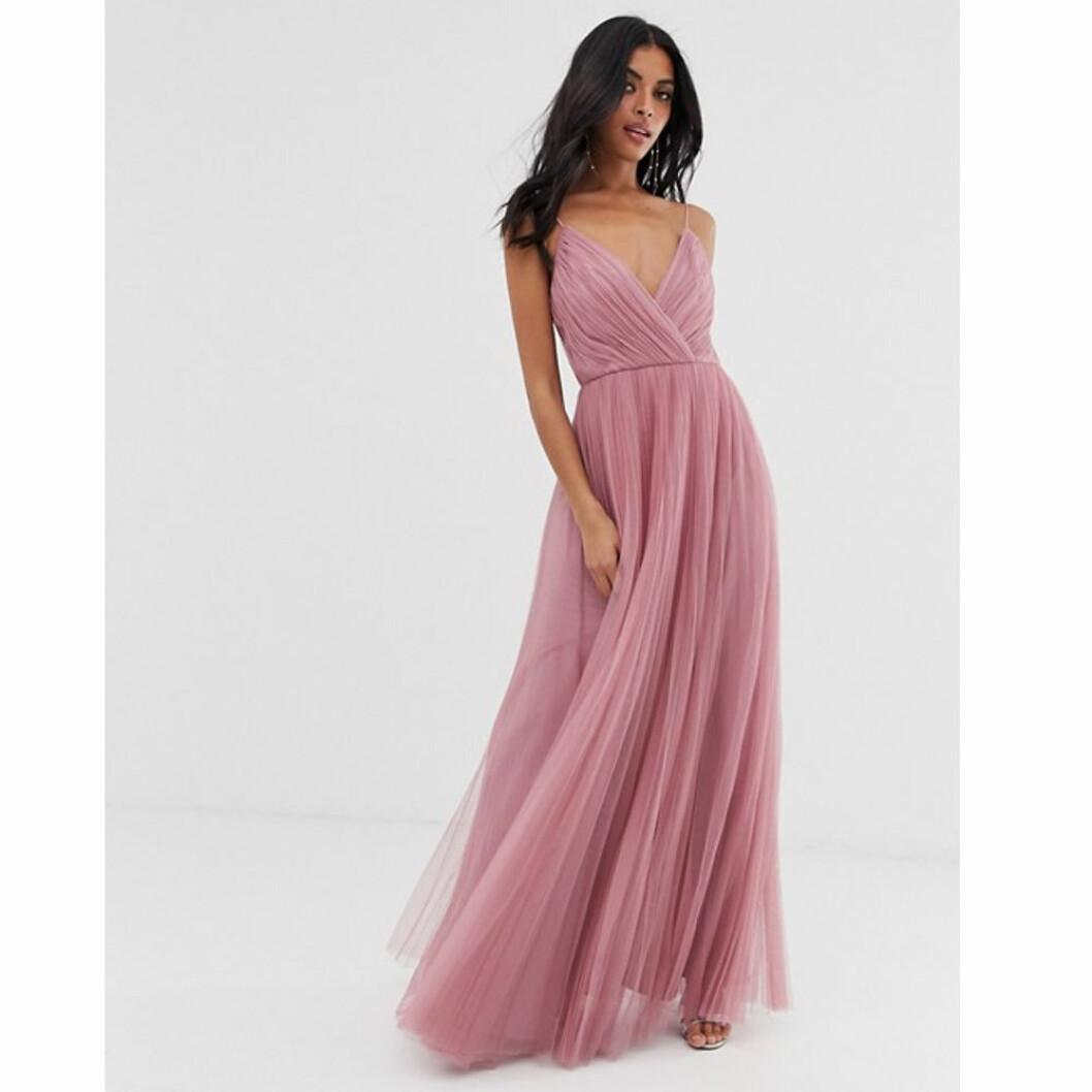 Rosa tyllklänning från Asos design