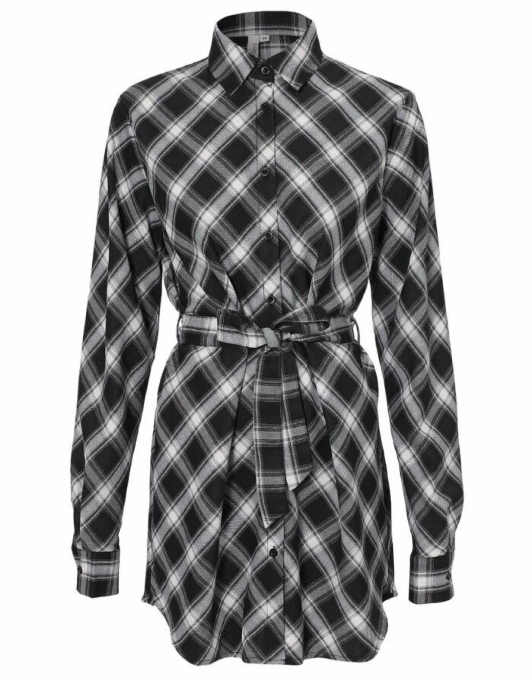 Rutig skjorta i oversize-modell
