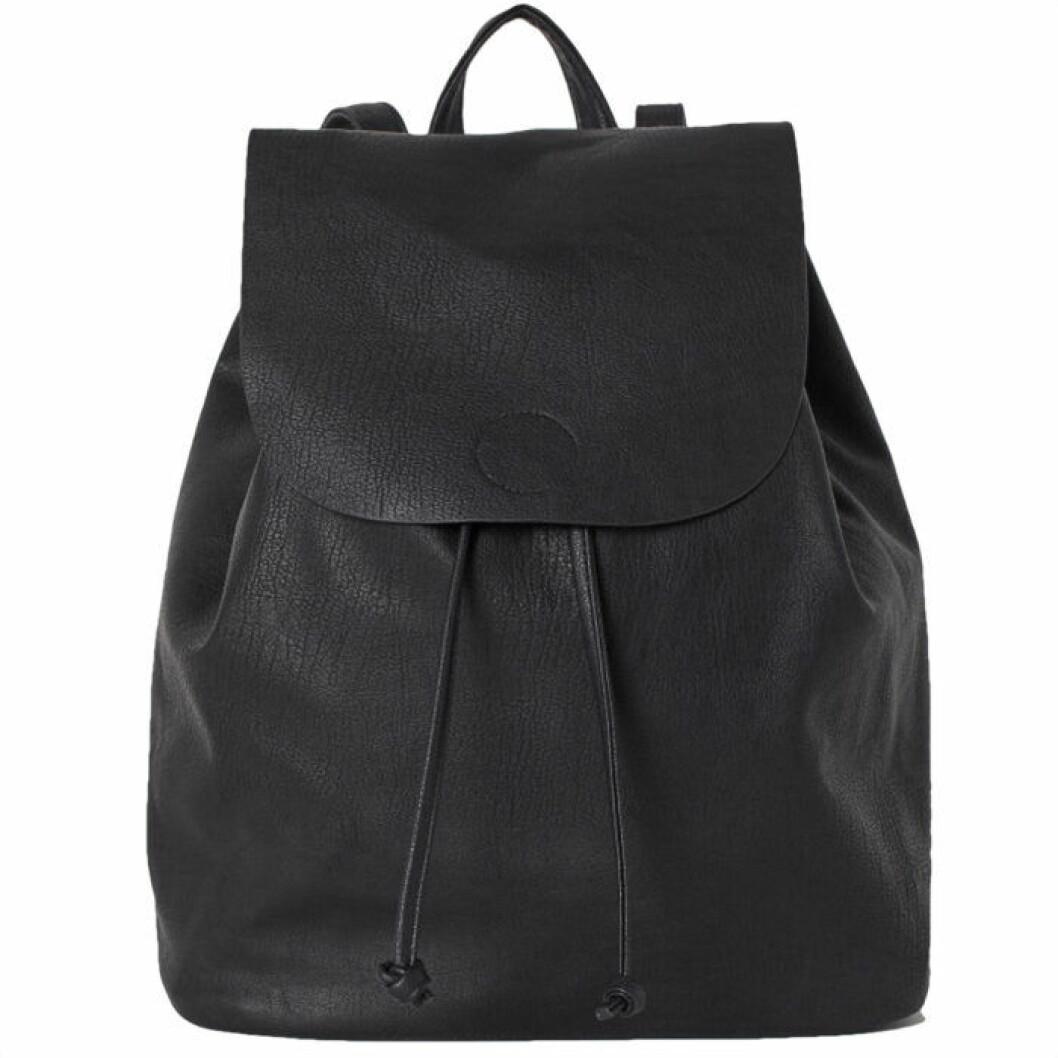 Ryggsäck i läder från h&M
