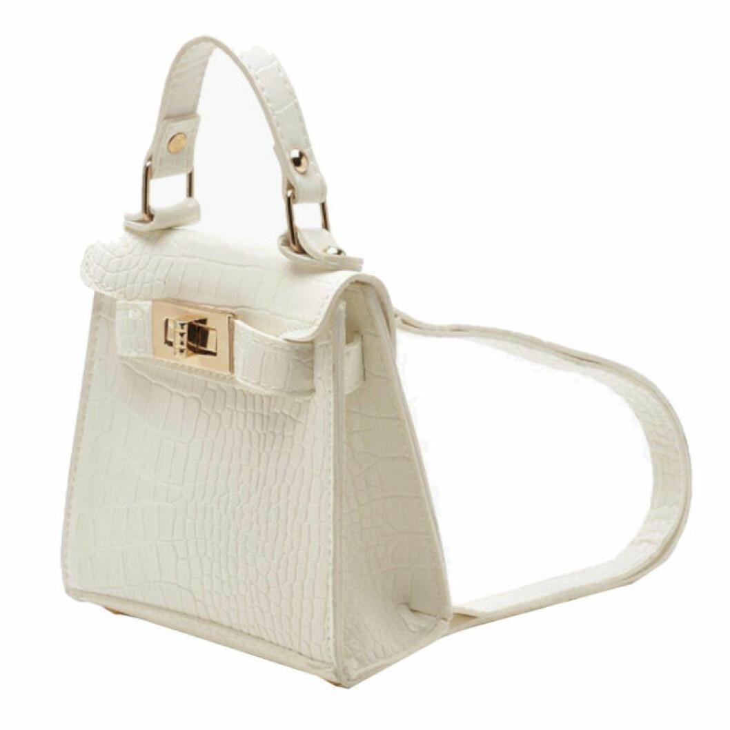 Liten vit ryggsäck från boohoo
