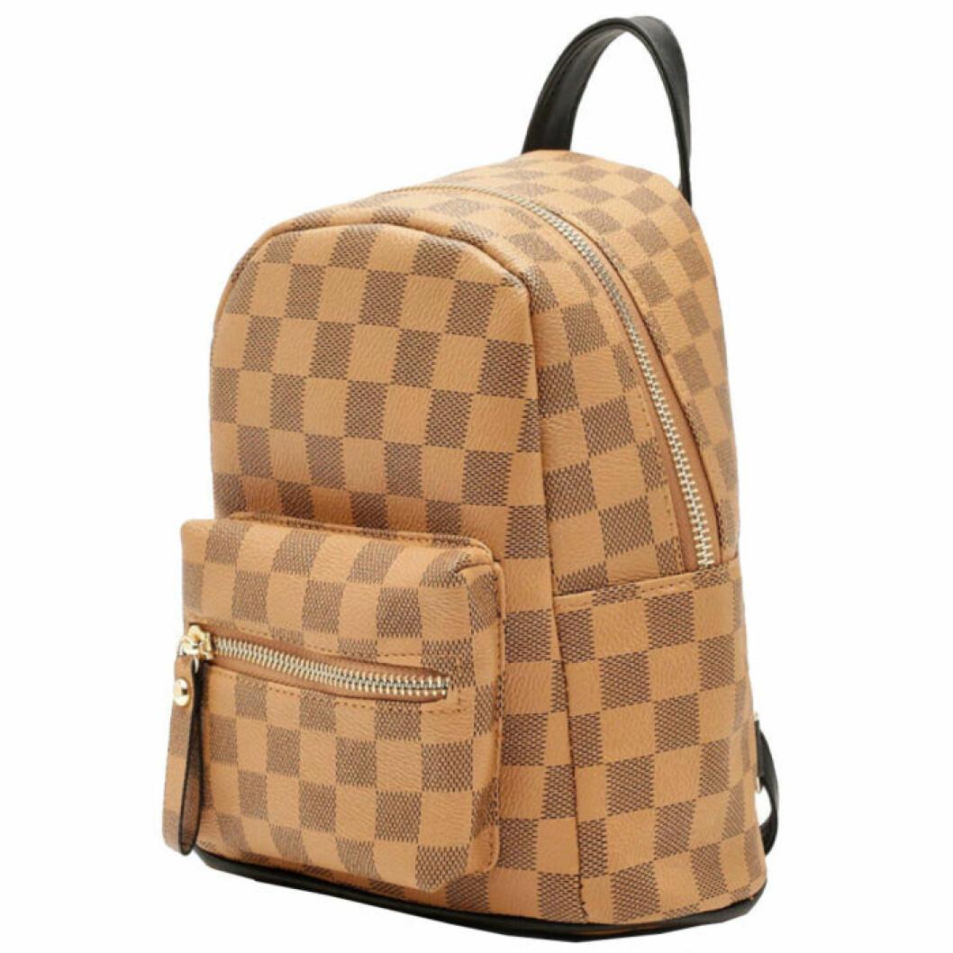 Rutig ryggsäck från Boohoo