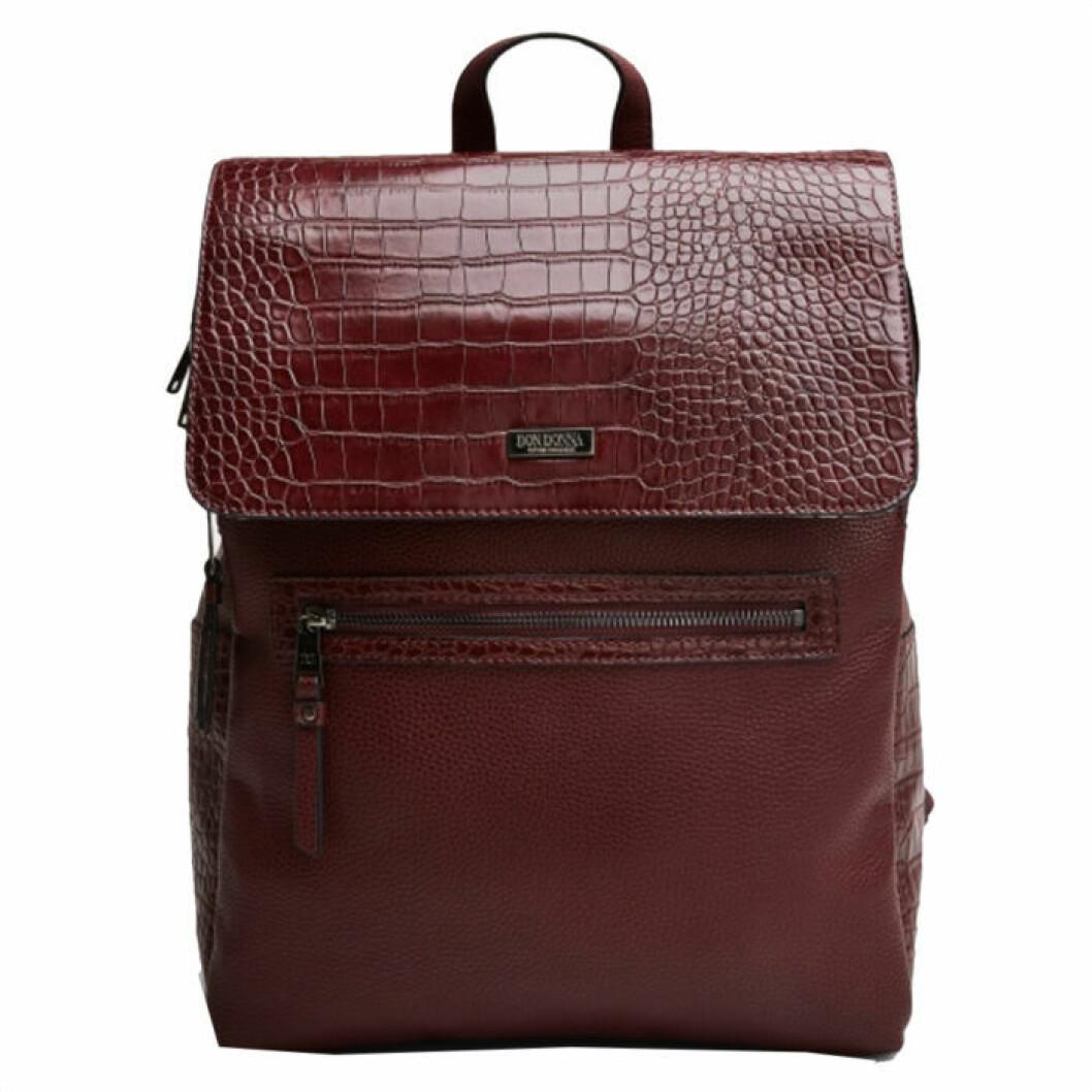 Vinröd ryggsäck från Don Donna