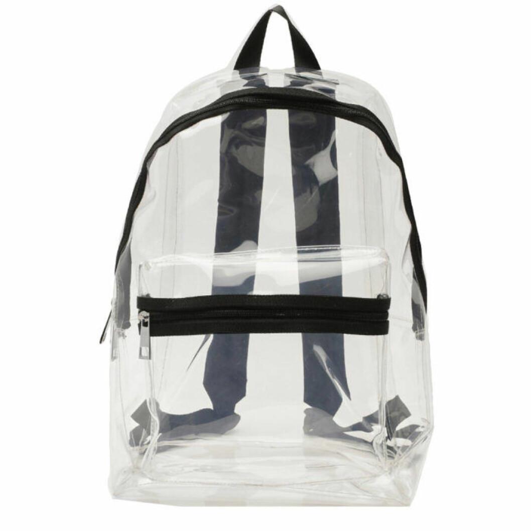 Genomskinlig ryggsäck från Boohoo