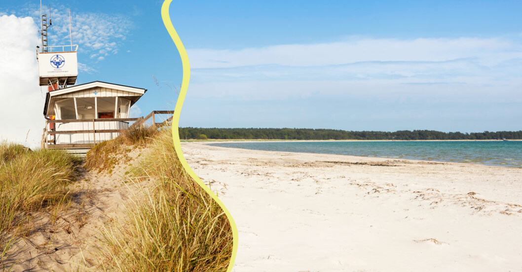 sandstränder i Sverige
