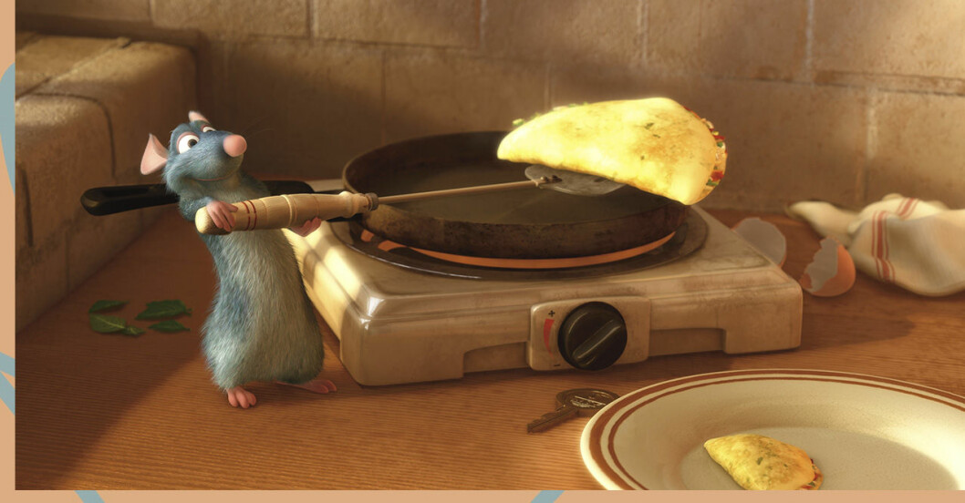 Scen med råttan i Disneys film Ratatouille.