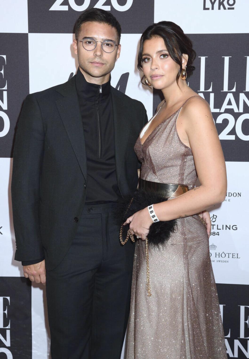 Eric Saade och Nicole Falciani .
