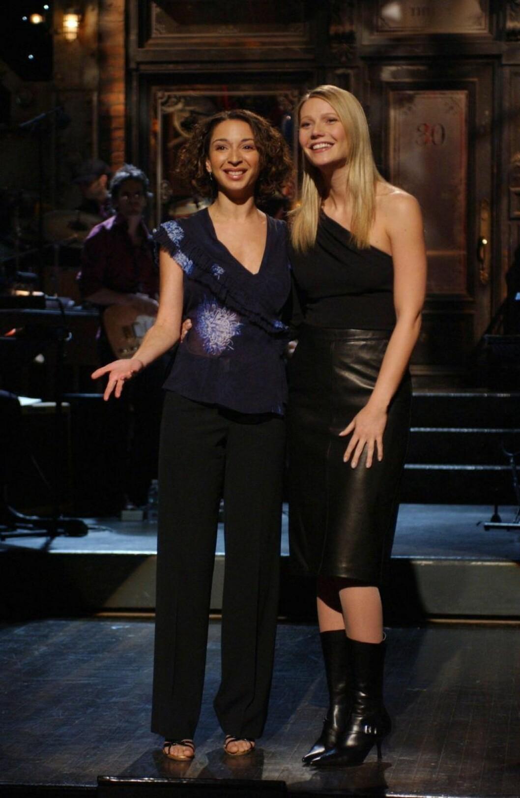 Maya Rudolph och Gwyneth Paltrow när de medverkade i Saturday Night Live år 2001.