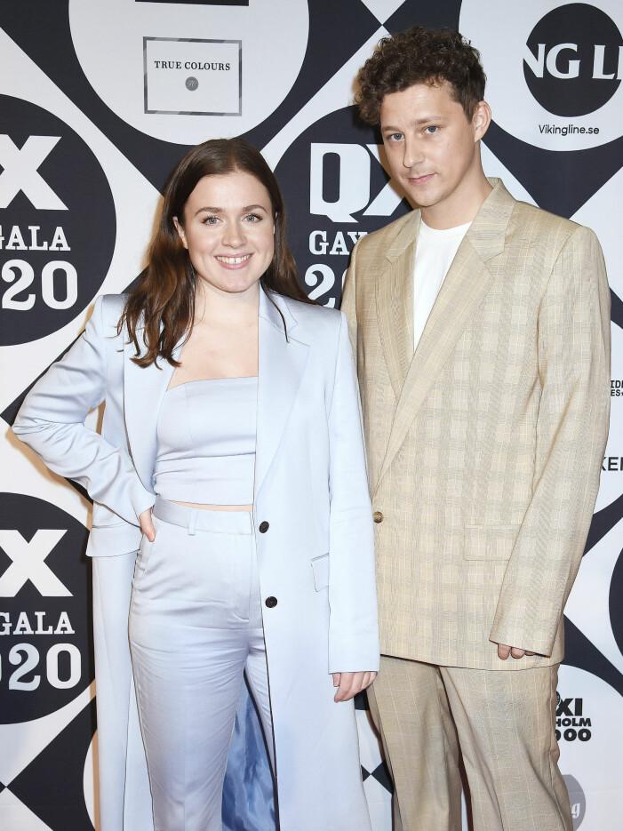 Amt och Charlie på gala 2020.
