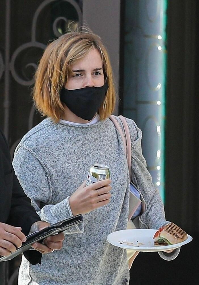 Emma Watson frisyr 2021, bob.