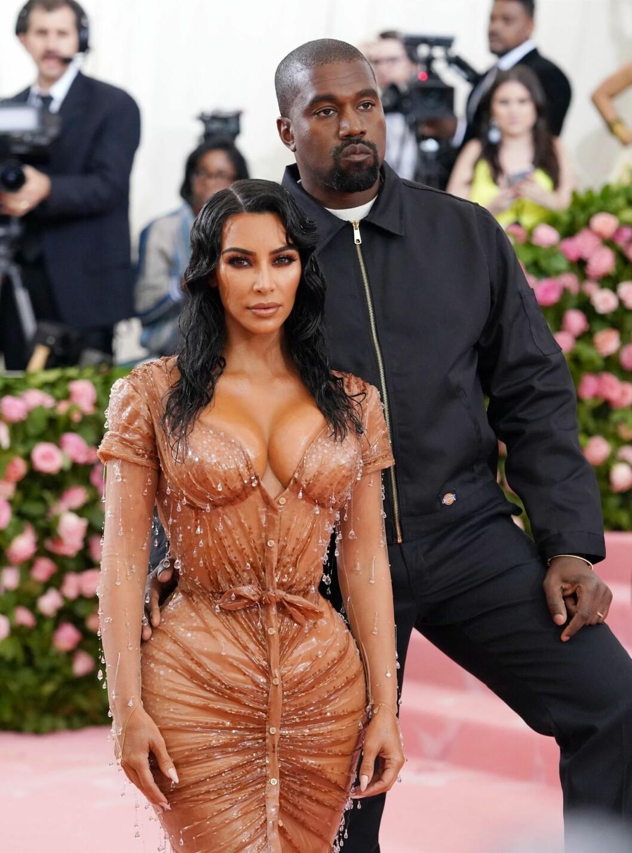 Kim Kardashian Kanye West på röda mattan