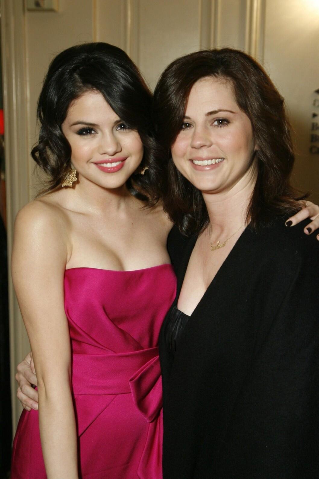 Selena Gomez med sin mamma.