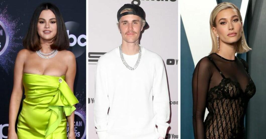Selena Gomez, Justin Bieber, Hailey Bieber
