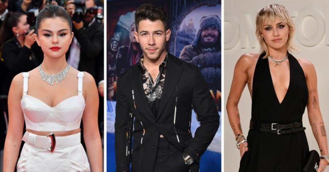 Miley Cyrus, Nick Jonas, Selena Gomez