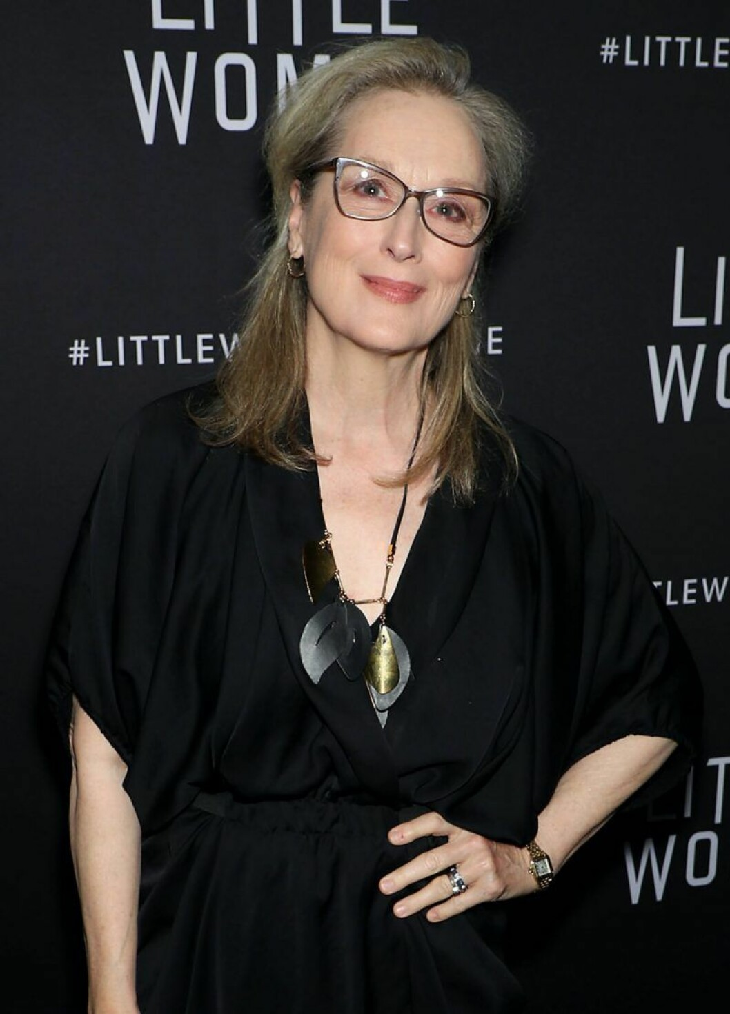 Meryl Streep ler i glasögon