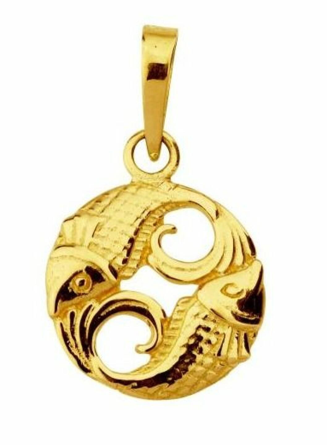 Smycke med stjärntecken fiskarna