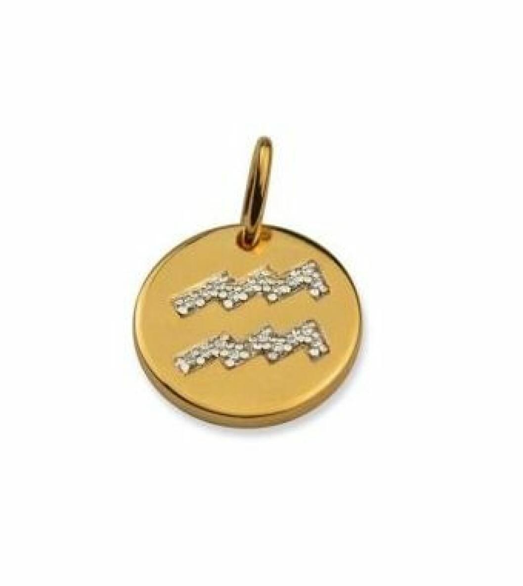 Smycke med stjärntecken vattumannen