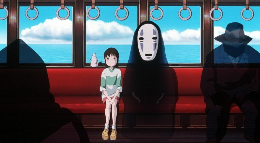 En bild ur animefilmen Spirited Away av Studio Ghibli.