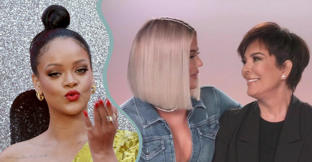 Rihanna, Khloe Kardashian och Kris Jenner