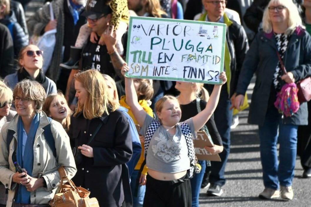 Klimatstrejken den 27:e september 2019 lockade drygt 10 000 till Stockholm