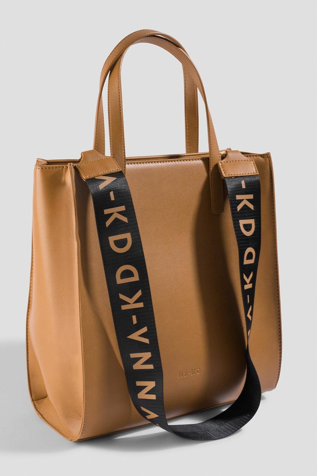 Stor brun väska till skola från Na-kd