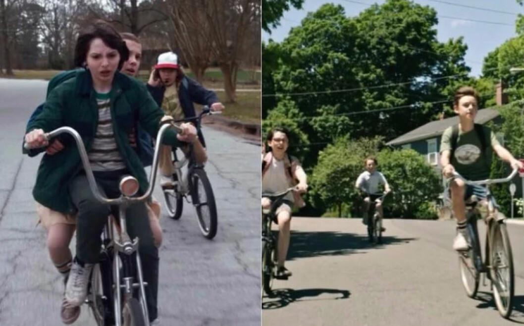 Gängen cyklar iväg i ET och Stranger Things
